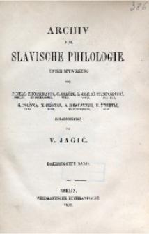 Archiv für Slavische Philologie, Bd. 30