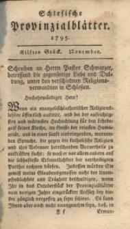 Schlesische Provinzialblätter, 1795, 22. Bd., 11. St.: November