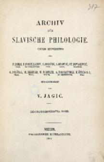 Archiv für Slavische Philologie, Bd. 31