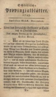 Schlesische Provinzialblätter, 1795, 22. Bd., 12. St.: December