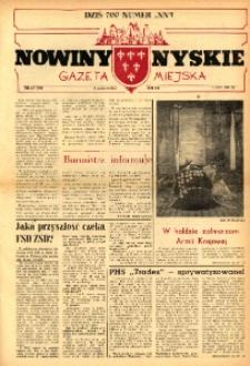 Nowiny Nyskie : gazeta miejska 1991, nr 23 (700).