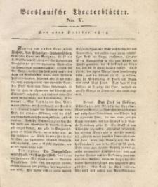 Breslauische Theaterblätter, 1815, No. 5