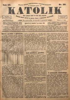 Katolik, 1912, R. 45, nr 29