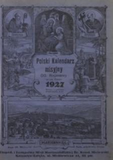 Polski Kalendarz Misyjny oo. Misjonarzy w Mariannhill w Poł[udniowej] Afryce... na Rok Pański 1927, R. 36