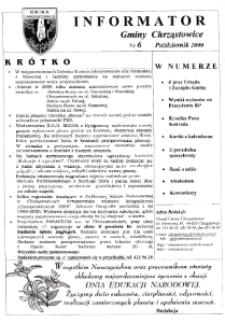 Informator Gminy Chrząstowice 2000, nr 6.