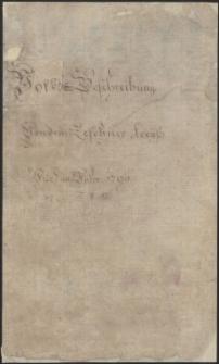 Volks-Beschreibung von dem Teschner Kreyß für das Jahr 1790
