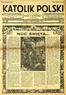 Katolik Polski, 1930, R. 6, nr 297