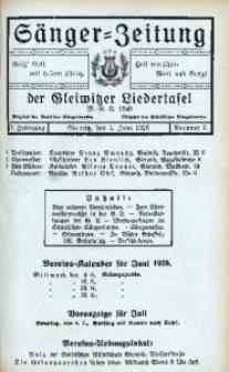 Sänger-Zeitung, 1926, Jg. 1, Nr. 6