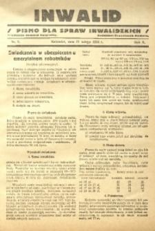 Inwalid, 1934, R. 10, nr 2