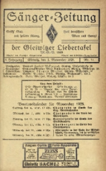 Sänger-Zeitung, 1928, Jg. 3, Nr. 11