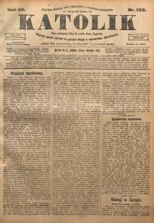 Katolik, 1912, R. 45, nr 102