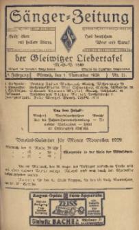 Sänger-Zeitung, 1929, Jg. 4, Nr. 11