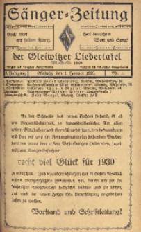 Sänger-Zeitung, 1930, Jg. 5, Nr. 1