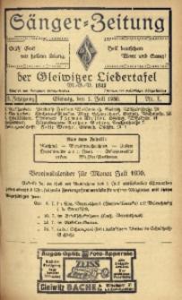 Sänger-Zeitung, 1930, Jg. 5, Nr. 7