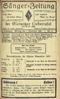 Sänger-Zeitung, 1930, Jg. 5, Nr. 11