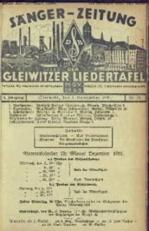 Sänger-Zeitung, 1931, Jg. 6, Nr. 12