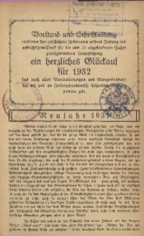 Sänger-Zeitung, 1932