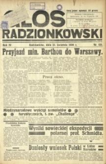 Głos Radzionkowski, 1934, R. 4, nr 121