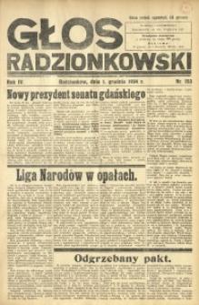 Głos Radzionkowski, 1934, R. 4, nr 153