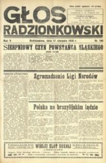 Głos Radzionkowski, 1935, R. 5, nr 190