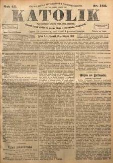 Katolik, 1912, R. 45, nr 140