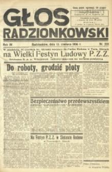 Głos Radzionkowski, 1936, R. 6, nr 233