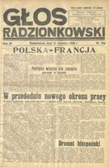 Głos Radzionkowski, 1936, R. 6, nr 246