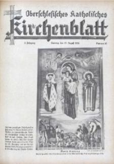 Oberschlesisches Katholisches Kirchenblatt, 1938, Jg. 3, Nr. 31