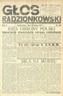 Głos Radzionkowski, 1937, R. 5 [włśc. 7], nr 268