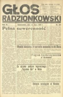 Głos Radzionkowski, 1937, R. 6 [włśc. 7], nr 291