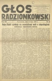 Głos Radzionkowski, 1939, R. 8 [włśc. 9], nr 58
