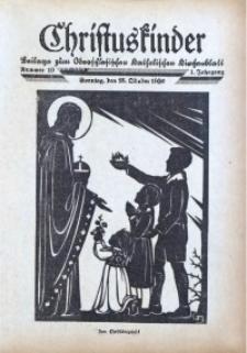 Christuskinder. Beilage zum Oberschlesischen Katholischen Kirchenbaltt, 1936, Jg. 1, Nr. d10