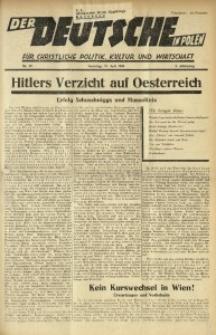 Der Deutsche in Polen, 1936, Jg. 3, nr 29