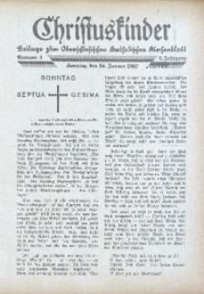 Christuskinder. Beilage zum Oberschlesischen Katholischen Kirchenbaltt, 1937, Jg. 2, Nr. 4