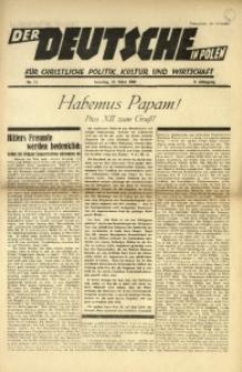 Der Deutsche in Polen, 1939, Jg. 6, nr 11