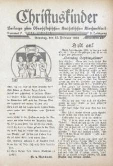 Christuskinder. Beilage zum Oberschlesischen Katholischen Kirchenbaltt, 1938, Jg. 3, Nr. 7