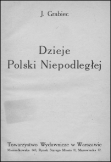 Dzieje Polski niepodległej