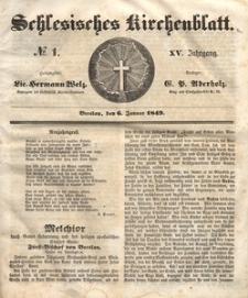 Schlesisches Kirchenblatt, 1849, Jg. 15, nr 1