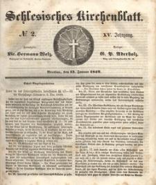 Schlesisches Kirchenblatt, 1849, Jg. 15, nr 2