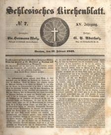 Schlesisches Kirchenblatt, 1849, Jg. 15, nr 7