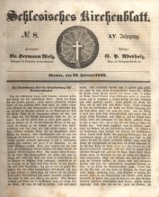 Schlesisches Kirchenblatt, 1849, Jg. 15, nr 8