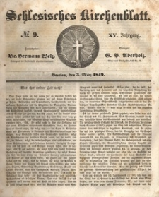 Schlesisches Kirchenblatt, 1849, Jg. 15, nr 9