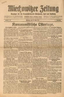 Miechowitzer Zeitung, 1921, Jg. 7, nr 36