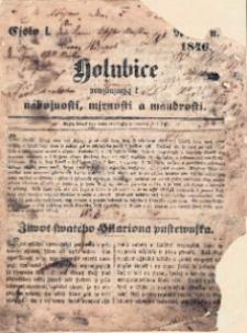 Holubice : povzbuzují k nábožnosti, mírnosti a moudrosti 1846, číslo 1.