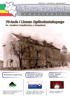 Nasz Powiat Namysłowski : bezpłatna gazeta samorządowa powiatu namysłowskiego 2015, nr 5 (34).