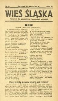 Wieś Śląska, 1937, R. 2, nr 40