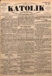 Katolik, 1889, R. 22, nr 96