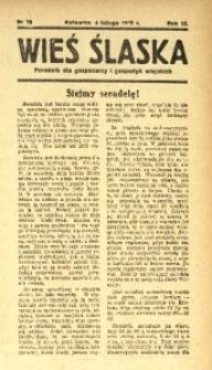 Wieś Śląska, 1938, R. 3, nr 16