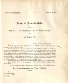 39. Provinzial-Landtag, Drucksache No. 34