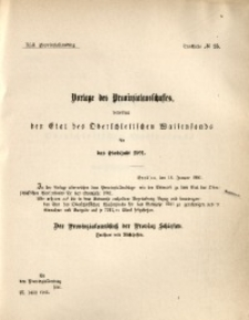 42. Provinziallandtag, Drucksache No. 25